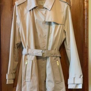 Michael Kors lined classic trench coat